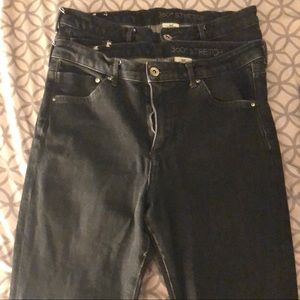 2 pairs of H&M Shaping Skinny High Jeans